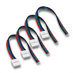 (4) Ribbon to Wire Snap Connectors for 10mm RGB LED Strips - 6""