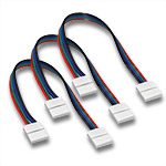 (3) Ribbon Wire Ribbon Snap Connectors for 10mm RGB LED Strips - 6""