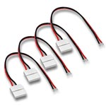 (4) Ribbon to Wire Snap Connector for Ribbon Star LED Strips - 6""