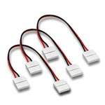 (3) Ribbon Wire Ribbon Snap Connectors for Ribbon Star LED Strips - 6""