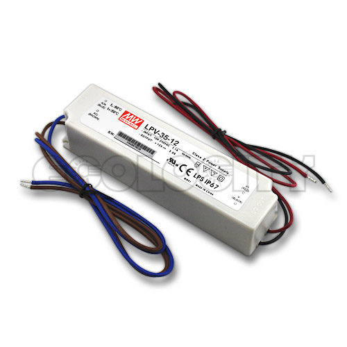 Mean Well Waterproof LED Power Supply 36W - 12VDC