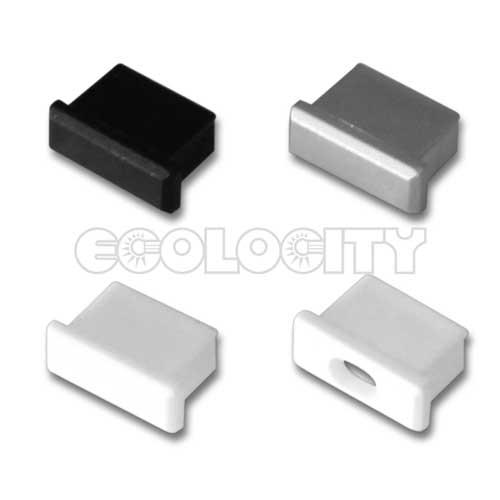 Led aluminum extrusion cap with hole for quot deep round