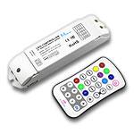 Mini Pro RGBW RF Remote & Receiver Kit, 5-24VDC 5A/CH