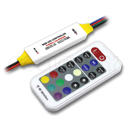 mini waterproof led controller with rf remote for rgb led. Black Bedroom Furniture Sets. Home Design Ideas