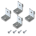 (4) Mean Well Mounting Brackets with Screws for 200W, 320W, 600W & 1000W PS