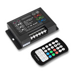 Pro RGB LED Controller with RF Remote, 5-24VDC 6A/CH