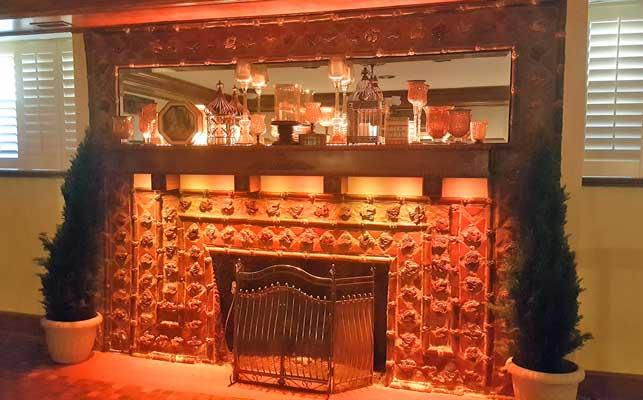 Rgbw Strip Lights And Rgb Spot Bulbs Light Up A Fireplace Mantle