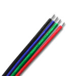 22 Gauge RGB Connection Wire, Black+BGR