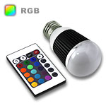 RGB LED Globe Bulb E27 Base 5W - Bulb & IR Remote