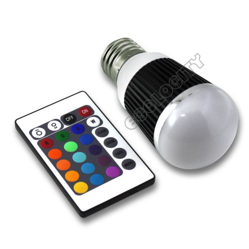 RGB LED Globe Bulb E27 base