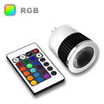 RGB LED Spot Bulb GU5.3 Base 5W - Bulb & IR Remote