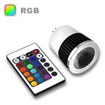 RGB LED Spot Bulb GU5.3 Base 5W - Bulb & IR Remote