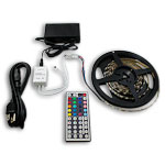 "Ribbon Star, RGB 180 LEDs - 118"" Kit with Power Supply and IR Controller"