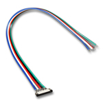 (4) Ribbon to Wire Connector 5 wire RGB + White