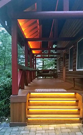 Step And Eave Lighting Using Waterproof Led Strip Lights