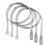 (3) Female Waterproof Ribbon to Wire Strip Light Connectors - 10""