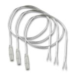 (3) Male Waterproof Ribbon to Wire Strip Light Connectors - 10""