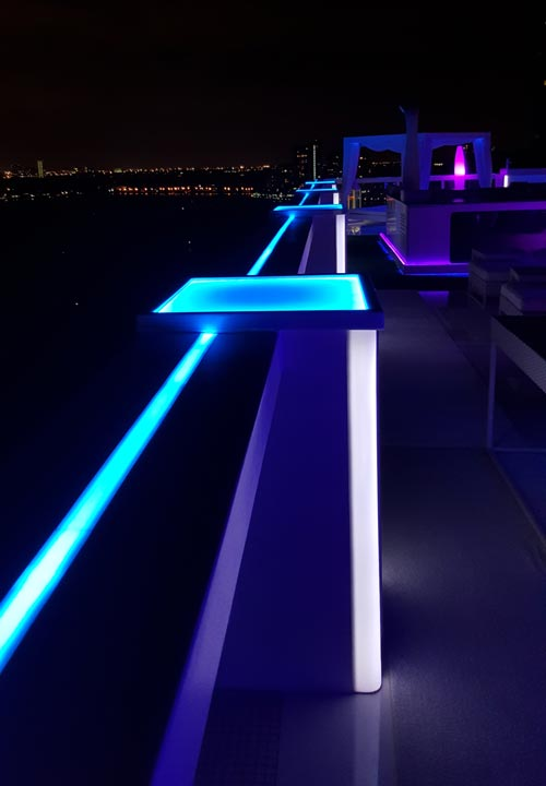 Outdoor Rgb Led Strip Lights Are Used To Bring Color