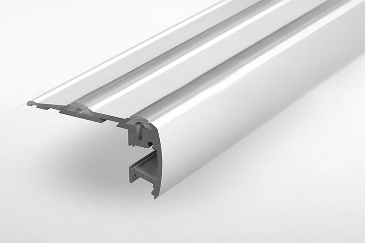 Staircase Led Aluminum Extrusion With Top And Bottom Lighting