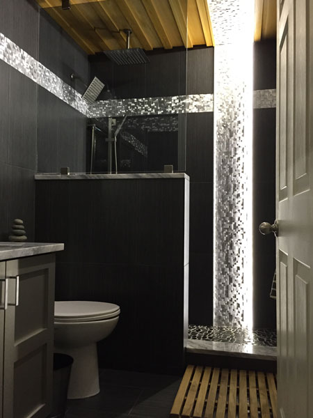 Led Bathroom Lighting Using 12vdc Warm White Led Strip