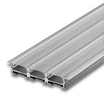 "1 Meter Triple Wide Aluminum Extrusion with Clear Diffuser - .2"" with Wings"