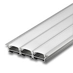 "1 Meter Triple Wide Aluminum Extrusion with Frosted Diffuser - .2"" with Wings"