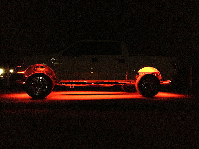 Interior And Exterior Truck Lighting Using Led Strip Lights