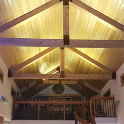Vaulted Ceiling Lighting using Ultra Warm White Strip Light
