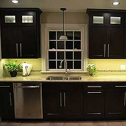 Kitchen cabinet lighting using warm white led strip lights workwithnaturefo
