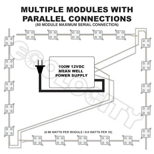 Led White Four Chip Backlight Module For Sign Shops