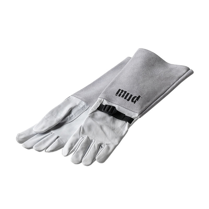 Womens Leather Rose Gloves White