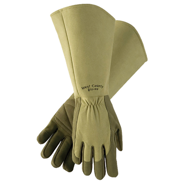 Extra Long Rose Gloves Moss