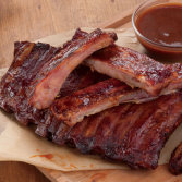 St. Louis Style Pork Ribs with Barbecue Sauce