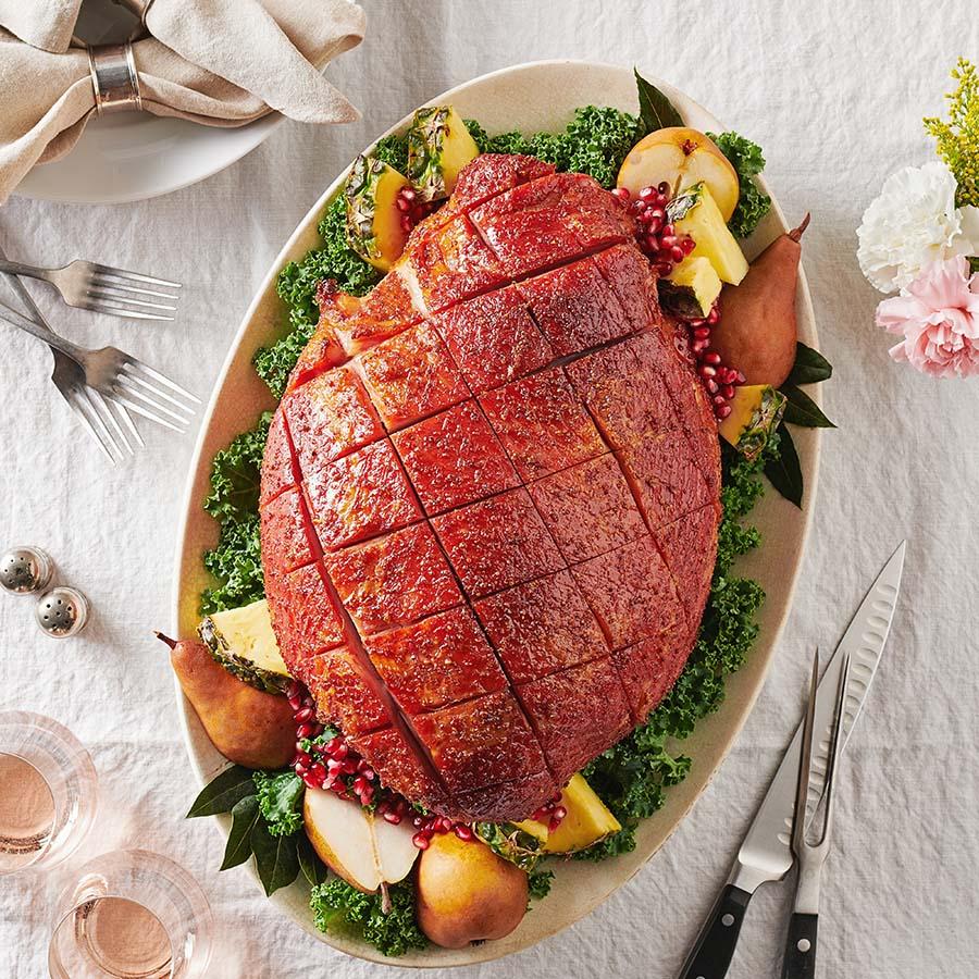 Cooked, Bone-In Tender Smoked Ham