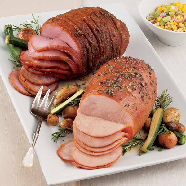 Fully-Sliced Smoked Sweet Ham and Turkey Breast Combo