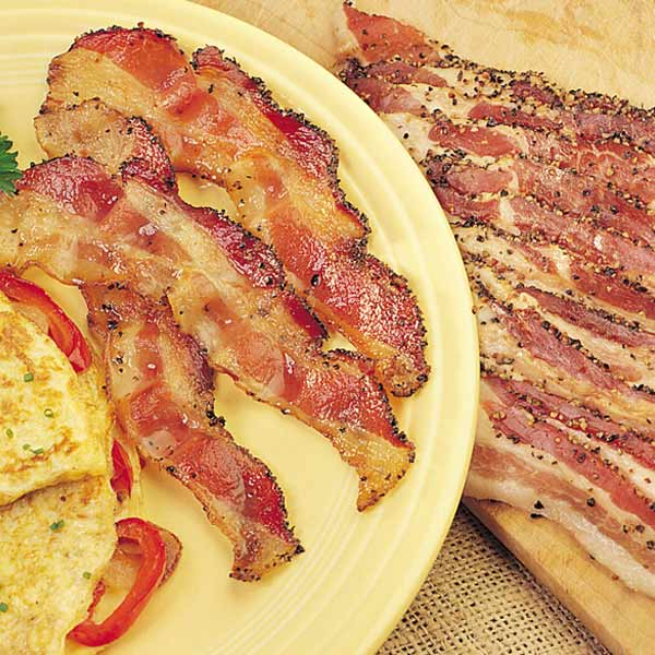 Sliced Hickory-Smoked Peppered Bacon - 6 (12 oz.) pkgs. Sliced Smoked Peppered Bacon