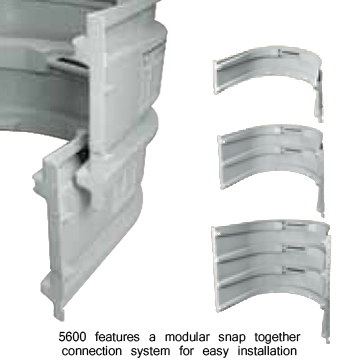 Modular Basement Window Wells by Wellcraft for finished basements. Modular snap together design allows for easy assembly, installation.