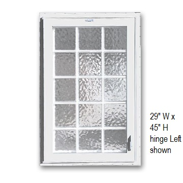 Acrylic block windows for basements safe egress with style Plastic glass block windows