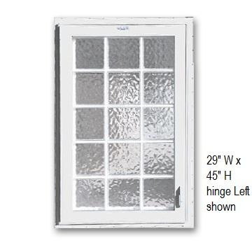 Acrylic block windows for basements safe egress with style for Large acrylic block