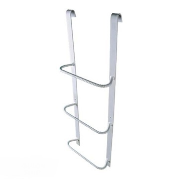 Fire escape ladder by Boman Kemp. An additional safety accessory required for any egress wells deeper than 44 inches.