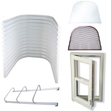 Easy Egress Escape Window Kit - White