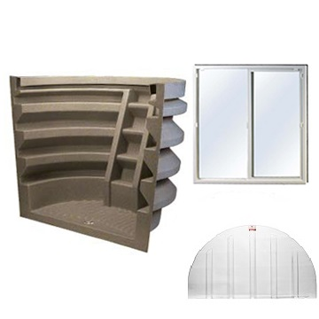 Ensure your finished basement ideas are implemented safely and up to code with the Rhino Egress Kit.