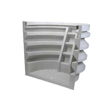 Egress requirements easily met with the Rhino Well in Granite. Made of rotational-molded, high-density polyethylene.