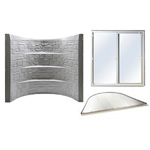 Fire escape window, window well, cover included in the Stonewell Egress kit, safe basement solutions for your home.