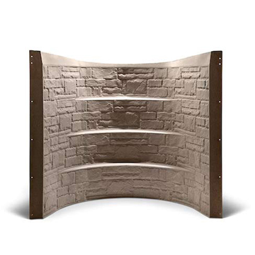 Window well liners that mimic the look and texture of real rock. Built-in steps provide an emergency exit.