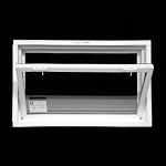 Non-egress hopper window for basements,  tilts in from the top to allow fresh air and sunlight in. Energy Star rated.