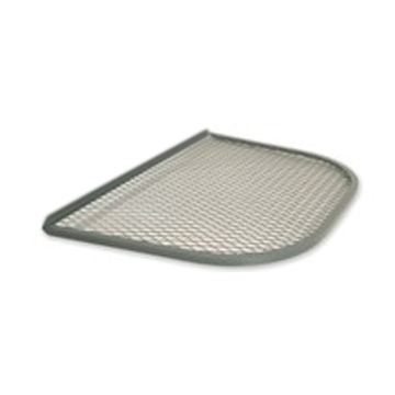 Window grates for the Stif Back II egress well, made of angled and flattened steel for extra strength and durability.