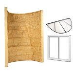 Elite window installation kit in Tan. Includes window well, sliding window and well cover.