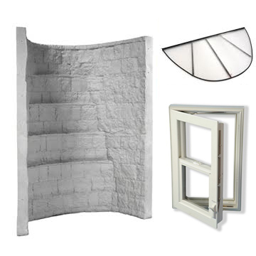 Elite Egress Well Kit Gray with Escape Window