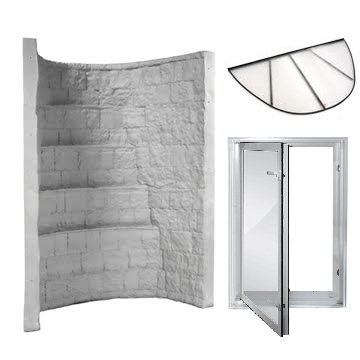 Elite Gray Well  KIT with In-Swing Window